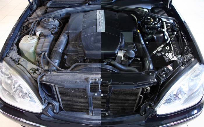 предпродажная подготовка: мойка двигателя